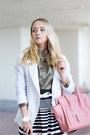 White-forever-21-skirt-bubble-gum-oasap-bag-olive-green-tailor4less-blouse
