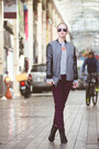 Black-asos-boots-charcoal-gray-younghungryfree-jacket