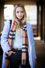 Light-blue-choies-coat-bronze-burberry-scarf-black-oasap-bag