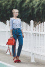 Blue-romwe-jeans-red-zaful-bag-red-choies-sandals