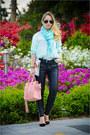 Aquamarine-forever-21-scarf-pink-oasap-bag-black-asos-sunglasses
