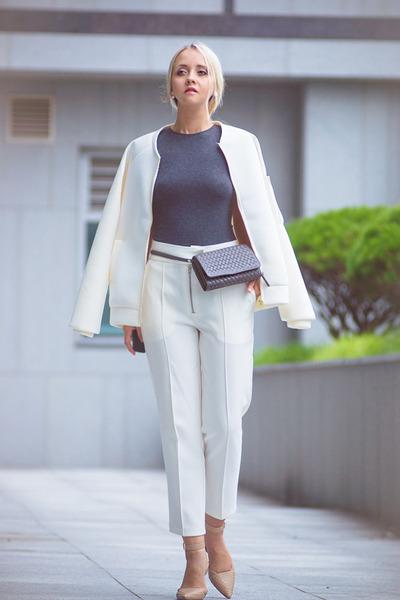 62bd39cb6c1c3 white Kate-Katy jacket - heather gray Kate-Katy bag - neutral sam edelman