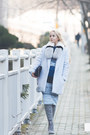 Silver-styled-moscow-scarf-navy-romwe-bag-sky-blue-romwe-suit