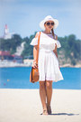 White-chicwish-dress-tawny-oasap-bag-tawny-celine-sunglasses