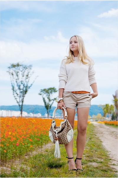 OASAP belt - Topshop sweater - Gucci bag - Zara heels
