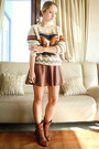 Brown-sammydress-boots-brown-sheinside-sweater-brown-miss-nabi-skirt