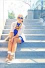 Beige-miss-nabi-sneakers-blue-korean-dress-beige-forever-21-jacket