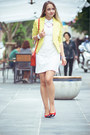 White-goodnight-macaroon-dress-light-yellow-vivilli-blazer-red-miss-nabi-bag