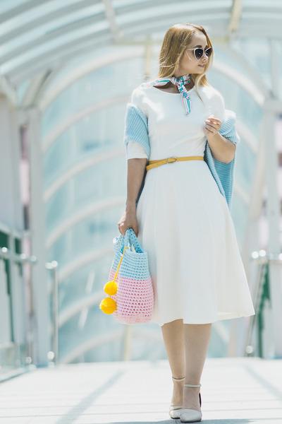 light blue GvozdisheKnitting bag