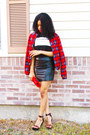 Red-grid-bomber-jacket-jacket-pu-choies-skirt-choies-ballinciaga-tee-top