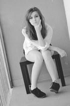 Primark shorts - Pimkie shirt - Primark blouse - Stradivarius heels