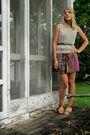 Purple-heritage-dress-purple-diy-accessories-beige-found-vest-brown-thrift