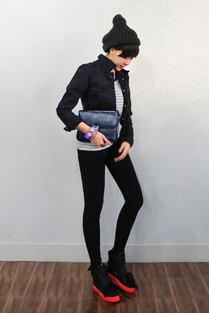 yubsshop jacket - yubsshop hat - black basic leggings yubsshop leggings