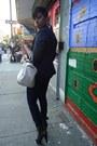 Black-kelsi-dagger-boots-navy-forever-21-jeans-navy-ann-taylor-loft-blazer-