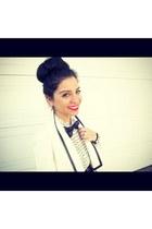 white vintage blazer - white rachel roy blouse