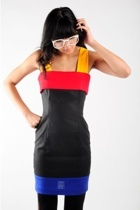 nasty gal vintage dress - nasty gal vintage glasses