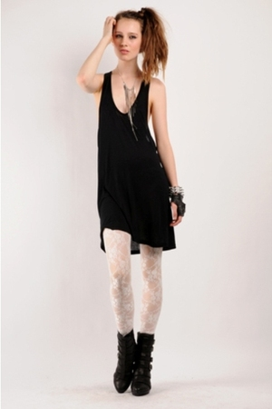deep tank dress top - lace tights costume dept