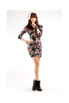 Motel dress - Nasty Gal accessories - sam edelman boots