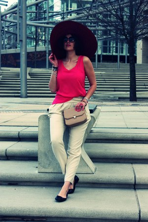 Zara hat - Zara bag - tory burch flats - Zara pants - Zara top - Marc Jacobs gla