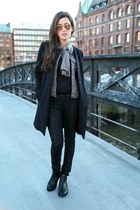 black Hallhuber coat - gray Hallhuber jeans