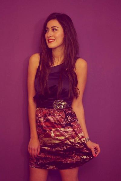 purple single dress dress