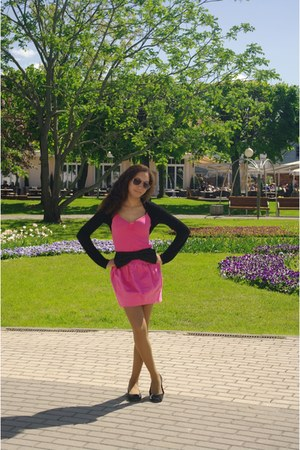 hot pink Newlook skirt - hot pink vest