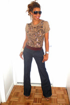 Zara shirt - Club Monaco jeans - Charlotte Ronson belt - Nyla shoes - Noir brace