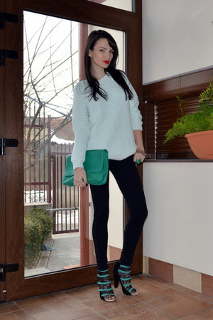 H&M sweater - green zaa bag