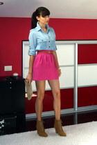 Zara skirt - Mango blouse - Zara wedges