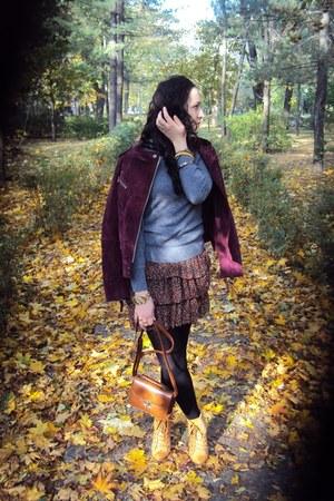 asos bracelet - asos boots - Mango jacket - cashmere H&M sweater - vintage purse