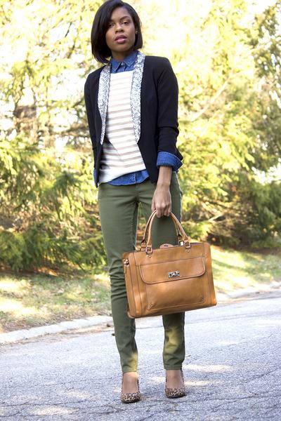 Merona Cognac Tech Tote - Brown bag