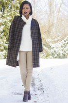 checked coat H&M coat