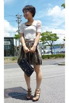 pink Zara top - H&M skirt - Nine West shoes