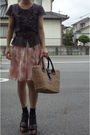 Brown-anayi-from-japan-top-brown-belt-skirt-socks