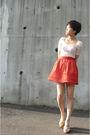 Zara-top-orange-h-m-skirt