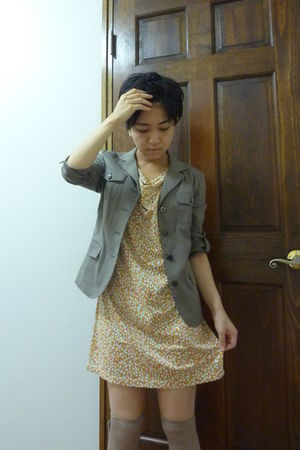 yellow Uniqlo dress - jacket -