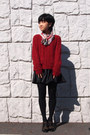 Red-mimi-roger-sweater-light-brown-cavacava-shoes-black-uniqlo-tights