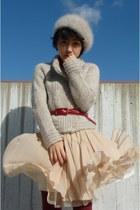off white DES PRES - neutral Tomorrowland skirt - off white laura ashley london
