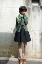 green Natural Beauty Basic cardigan - beige Natural Beauty Basic belt - black ji