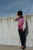 pink Tocca vest - blouse - pink - pink shoes - Diesel jeans