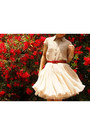 Beige-banana-republic-blouse-eggshell-tutu-tomorrowland-skirt-red-belt