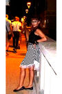 Black-top-black-my-creation-skirt-black-ebay-glasses