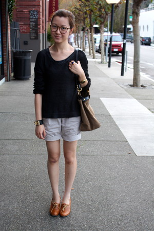 Zara shorts - H&M top - vintage shoes - Fendi bag