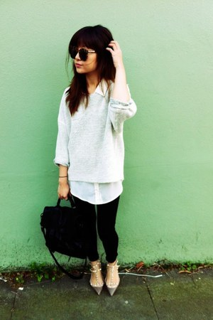 Valentino flats - PROENZA SCHOULER bag - American Apparel sweatshirt