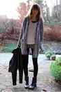 Gray-monki-cardigan-black-h-m-divided-jacket-white-h-m-shirt-gray-vero-mod