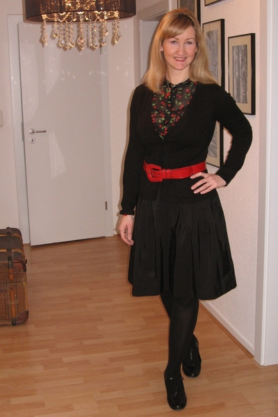 H&M blouse - H&M skirt - belt