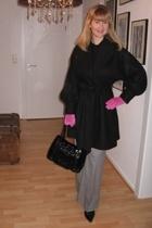 I am hat - H&M coat - River Island pants - I am purse