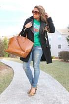 tiger Kenzo sweatshirt - Zara coat - ae jeans
