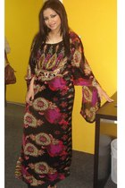 black traditional arabic designer dress