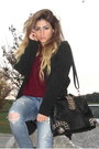 Black-jeffrey-campbell-boots-black-forever-21-coat-maroon-forever-21-sweater